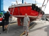 Bob Duffield with new breakwater boat